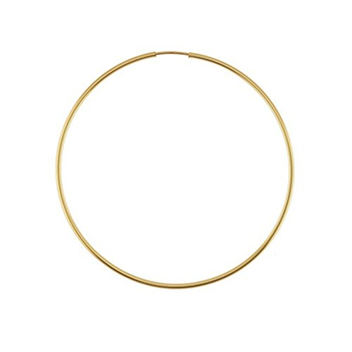 Designs by Nathan, 14K Yellow Gold Filled Seamless Endless Hoop Earrings, 7 Choices (Slender 1.3mm x 50.8mm) (Yellow Gold 14k Slip)