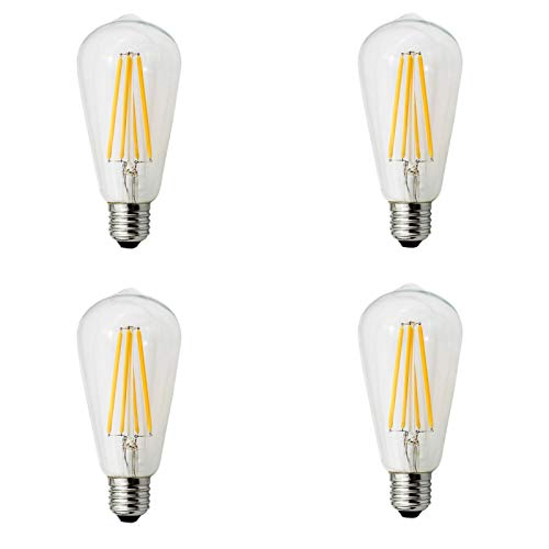 4PC LED Lamp E26 120V LED Bulb LED Bulb Actual Power 6.5W Warm Lamp Lampada by SANNYSIS