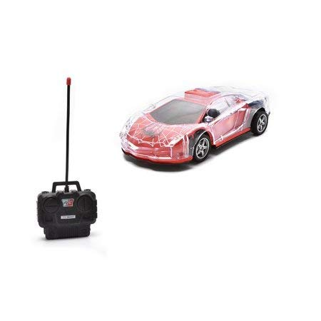 (Light Up RC Remote Control Racing Car - 1:24 Scale RC Sports Car with Spectacular Dazzling Flashing LED Lights with Full Driving Functions Radio Control Vehicle Gift, Ideal Toy for Kids, Boys & Girls)