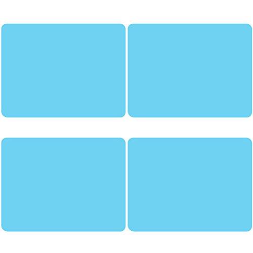 Silicone Baking Mat, Danibos Silicone Waterproof Baking Mat, Non Stick Placemat, Hot Mat, Tablemat, Silicone Bake Ware, Soft Silicone Mat for Baking Set of 4 (Blue)