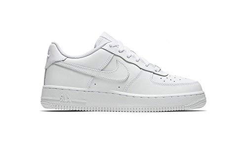 Nike Kids Air Force 1 (GS) White/White/White Basketball Shoe 4.5 Kids US (Boys Jordan Retro Shoes)