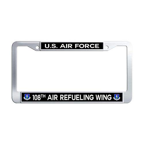 - Framespolish US Air Force 108th Air Refueling Wing Auto License Cover Holder Stainless Steel Car License Plate Frame Holder