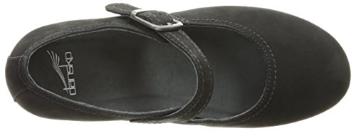 Women's Sandra Black Mary European Black Nubuck Dansko Flat Nubuck 36 US Jane U4BqRdpw