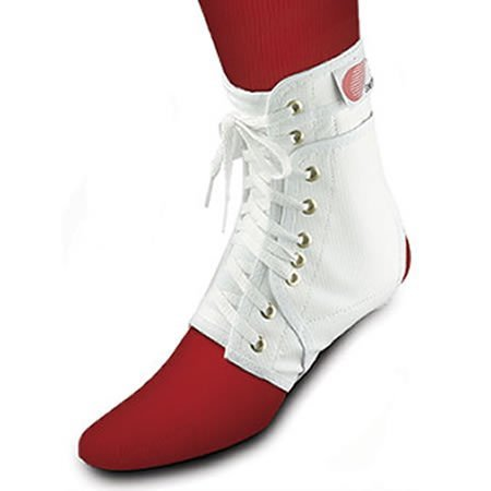 Swede-O Ankle Lok, knit tongue - Med, White w stabilizers