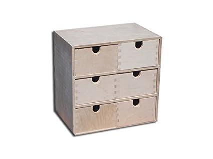 Caja de almacenaje con cajonera organizadora con 6 cajones ...
