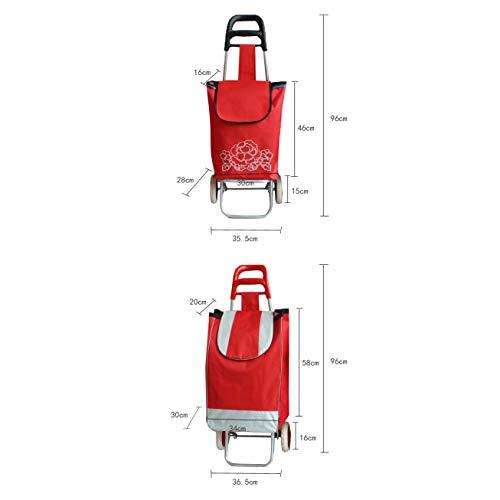 De Red Varilla De Gran Capacidad Empuje Carros Equipaje De Plegable Aluminio De Blue Carrito DCRYWRX Empuje Telescópica De Tracción Marco Portátiltarta Compras Oqwfpf