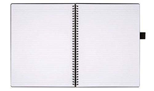 Office Depot(R) Brand Hard Cover Premium Business Notebook, 8 1/2in. x 11in, 1 Subject, Narrow Ruled, 120 Pages (60 Sheets), Black by Office Depot (Image #2)