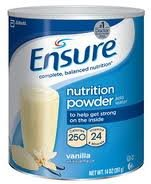 Ensure Vanilla Powder 14oz Cans Case of 60. by Abbott Nutrition