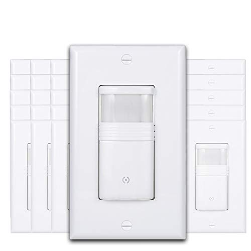 (Pack of 50) White Motion Sensor Light Switch