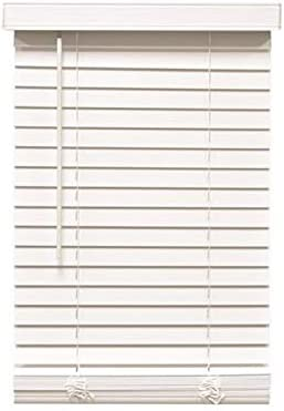 Designer s Touch 3588802 Cut-to-Width White Cordless 2 in. Faux Wood Blind – 63 in. W x 60 in. L