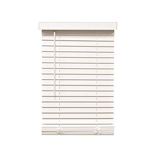 Designer's Touch 3588784 Cut-to-Width White Cordless 2 in. Faux Wood Blind - 30 in. W x 60 in. L by Designer's Touch
