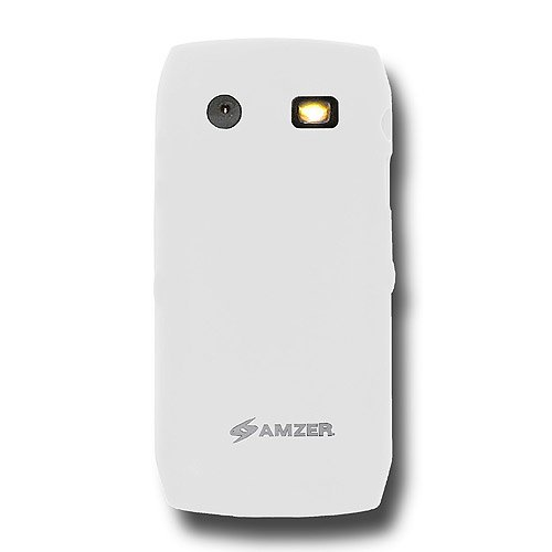 Amzer Silicone Skin Jelly Case for BlackBerry Pearl 9100/9105 - Lilly White