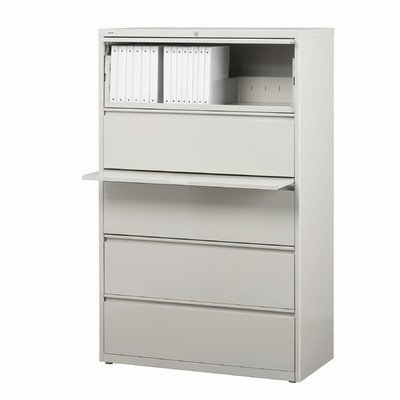 Hirsh Industries LLC 10000 Series Lateral 36'' Wide 5 Drawer File Cabinet in Gray by Hirsh Industries