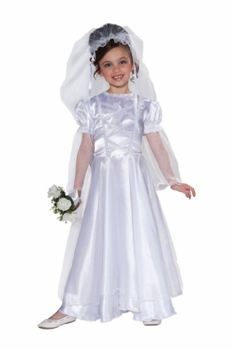 Bride Halloween Costumes (Forum Novelties Little Bride Wedding Belle Child Costume Dress and Veil, Small)