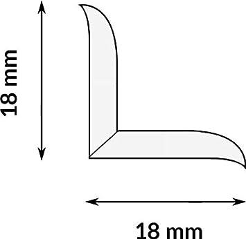 18x18mm graphit DQ-PP WEICHSOCKELLEISTE Knickwinkel Fussleisten Gummileiste Sockelleiste Winkelprofil Abschlussleiste Bodenleiste PVC 5m selbstklebend