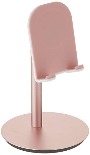 DinoCase Adjustable Cell Phone/Tablet Stand, Multi Angle, Aluminum Modern Accessories, for Desk Desktop iPad Pro iPhone (Rose Gold)