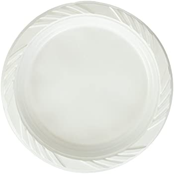 Blue Sky 100 Count Disposable Plastic Plates 6-Inch White  sc 1 st  Amazon.com & Amazon.com: White 12 oz. Plastic Bowls - 100 Count(styles may vary ...