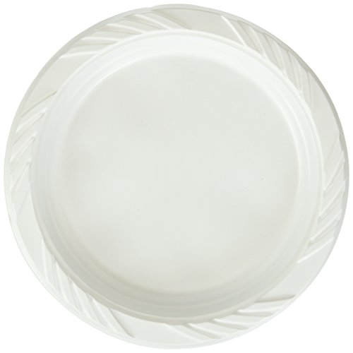 Blue Sky 100 Count Disposable Plastic Plates, 6-Inch, White (Plates Paper Appetizer)