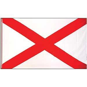 EagleEmblems Flag State Alabama Poly 3ft X 5ft
