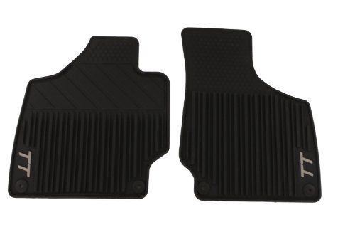 Genuine Audi Accessories 8J1061520041 Black Rubber Front All Weather Floor Mat for Audi TT, (Set of 2)