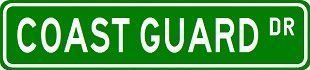 COAST GUARD Street Sign Custom Street Sign - Sticker Graphic Personalized Custom Sticker Graphic