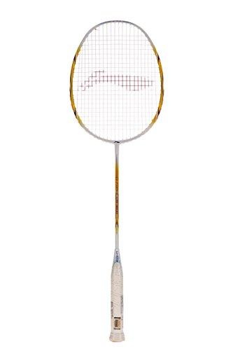 Li Ning G Force Lite 3600 Badminton Racquet  Strung , S2 Grip Size,  White/Gold
