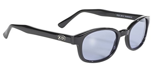 Pacific Coast Original KD's Biker Sunglasses (Black Frame/Blue - Sunglasses Run