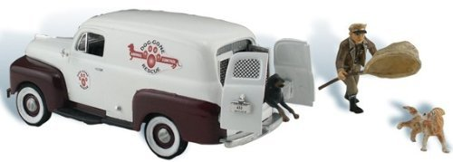 Woodland Scenics Autoscene Dog Gone Animal Control Van w/Figure & Dog HO Scale