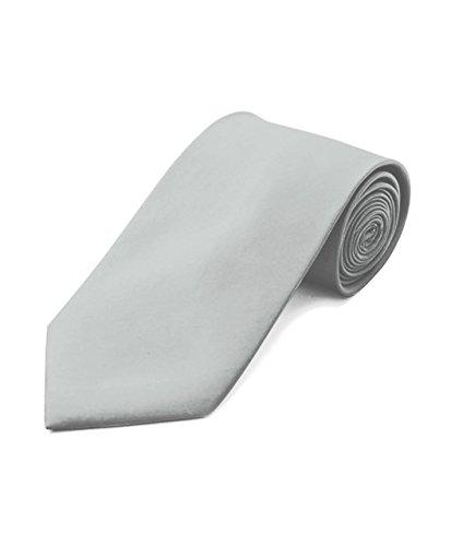 (Umo Lorenzo Men's Poly Solid Satin Tie + Gift)