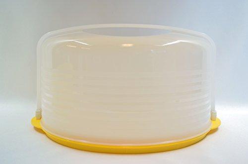 Tupperware Round Cake - Tupperware Round Cake Taker W/yellow Base