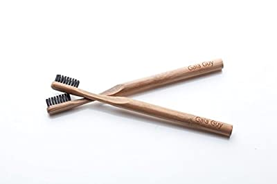 Bamboo Toothbrush 4-Pack - Natural Bamboo Charcoal Infused Toothbrushes - BPA Free