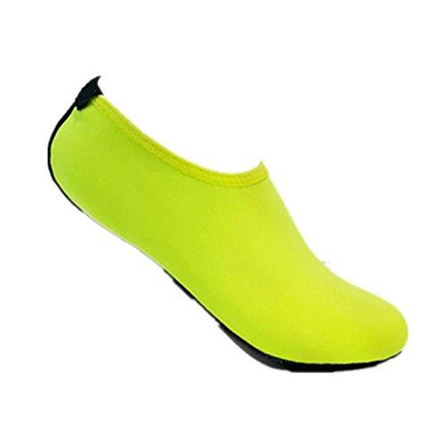 Ammazona Hommes Femmes Yoga Surf Plage Snorkeling Chaussettes Natation Plongée Chaussettes Chaussures De Bain Vert