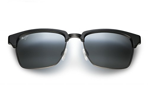 Maui Jim - Kawika - Gloss Black W/ Pewter Frame-Polarized Neutral Grey Lenses