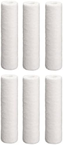 Package Of 6 Hydronix SDC-25-1010 Sediment Polypropylene Water Filter Cartridges--