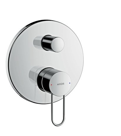 - AXOR Uno Bath Mixer, Loop Handle, integrated backflow prevention, chrome