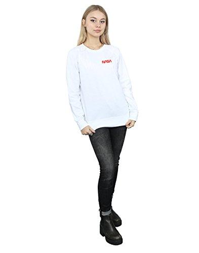 Entrenamiento Nasa Pocket Blanco Camisa Logo Mujer Modern Cult De Absolute Ffwq7Bc