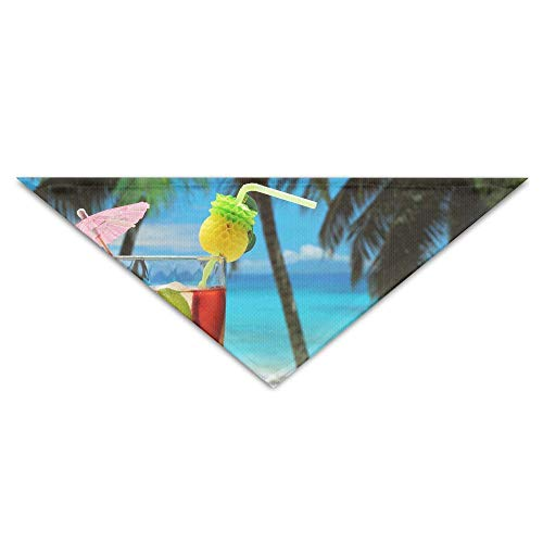 Jingclor Pet Triangle Bandana Fruity Cocktail Photography Art Washable Dog Puppy Scarf Bib Babys Neckerchief Accessories