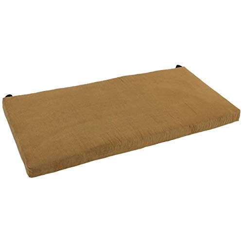 Blazing Needles 48-inch Indoor Microsuede Bench Cushion Camel Bench, Settee