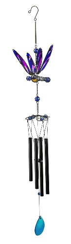 Red Carpet Studios Wings on Springs Glass Wind Chime, Dragonfly Review