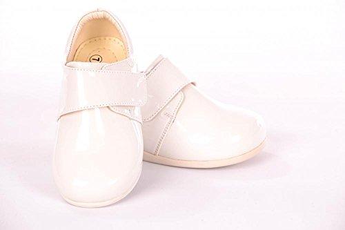 Smart Baby Boys White Patent Kabelriemen mit Klettverschluss Schuhe Größe 1-10