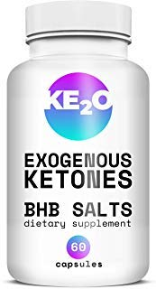 BHB Salts Exogenous Ketones - Best Weight Loss Pills with Beta-Hydroxybutyrate Salts - Advanced Keto Diet Supplements - Stomach Visceral Fat Burner for Men and Women, 60 Capsules by KE2O
