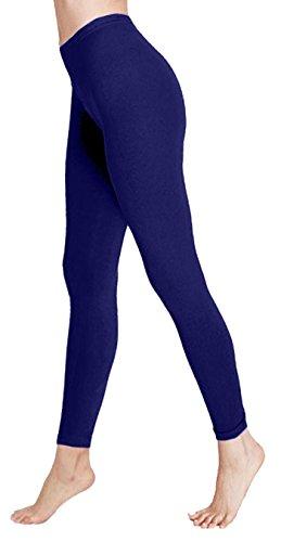 Femme Bleu Uni Noir 21fashion Legging Unique Taille Marine aSqnwE