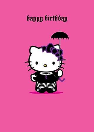 Hello Kitty Happy Birthday Greetings Card Gothic Lolita