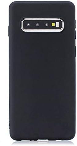 あなたの携帯電話を保護する Galaxy S10 Plus用のつや消しソリッドカラーTPU保護ケース (色 : ブラック)