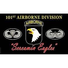 (101st Airborne Screaming Eagles Flag)