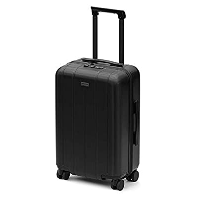 Image of Luggage CHESTER Minima Carry-On Luggage / 22'x19'x14' Lightweight Polycarbonate Hardshell/Spinner Suitcase/TSA Approved Cabin Size (Onyx (Black), Carry-On Luggage)