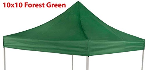 Impact Canopy Replacement Top Cover Forest Green 10×10