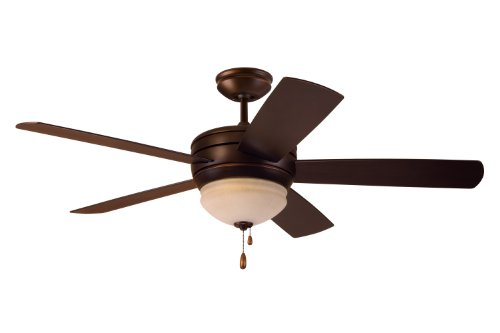 Emerson Ceiling Fans CF850VNB Summerhaven 52-Inch Indoor Outdoor Ceiling Fan with Light, Wet Rated Ceiling Fans in Venetian Bronze Finish (Ceiling Fans Wet Rated compare prices)