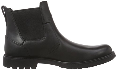 para Negro Timberland Chelsea Hombre on Smooth Black Botas Stormbuck Pull AgXqH4