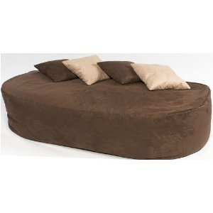 Elegant XXX L HUGE 16cu FT FAUX SUEDE BEANBAG BED BEAN BAG SOFA BED BROWN